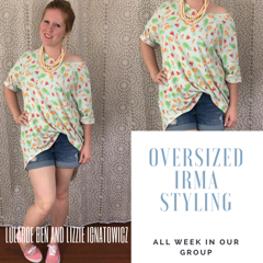 94941ee949 Over-sized Irma Tunic Styling – It's A Darling World